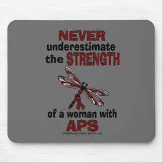 Never Underestimate...Woman/Dragonfly...APS Mouse Pad
