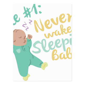 Never Wake Baby Postcard