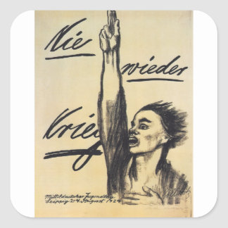 Never War Propaganda Poster Square Sticker