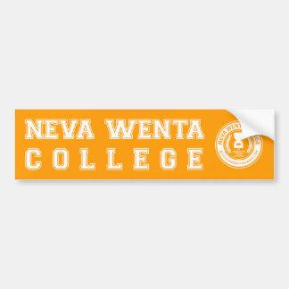 """Never went to college"" Bumper Sticker"