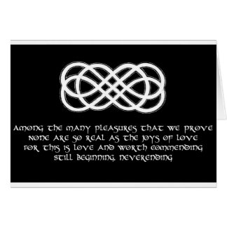 Neverending Celtic Love Knot and poem Card