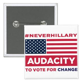 #NEVERHILLARY Button