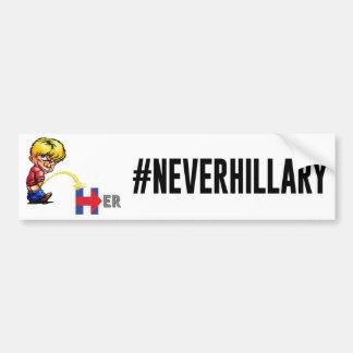 #NEVERHILLARY GETS WET Bumper Sticker