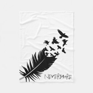 Nevermore, Flying Ravens, Modern Fleece Blanket