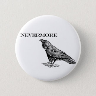 Nevermore Raven 2 Inch Round Button
