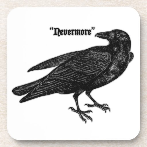 Nevermore Raven Coasters