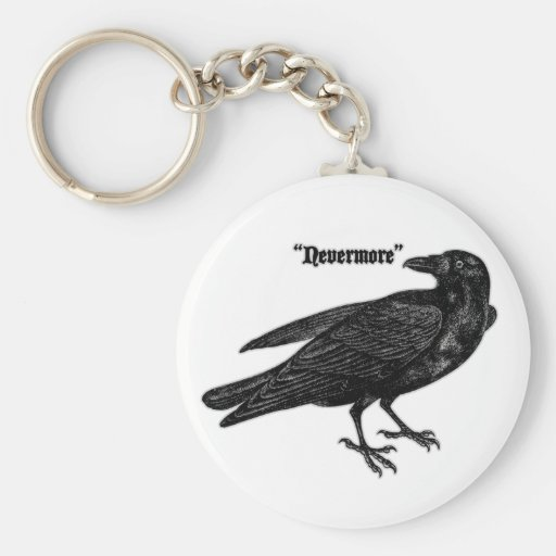 Nevermore Raven Key Chain