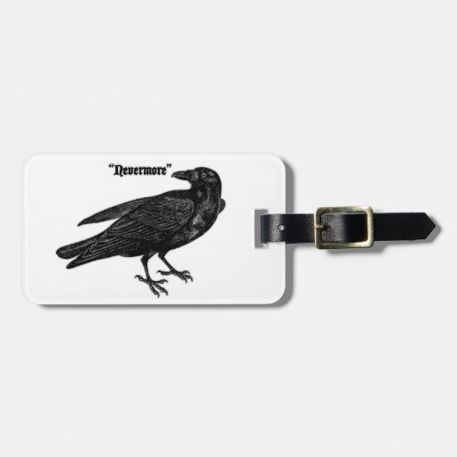 Nevermore Raven Tags For Luggage