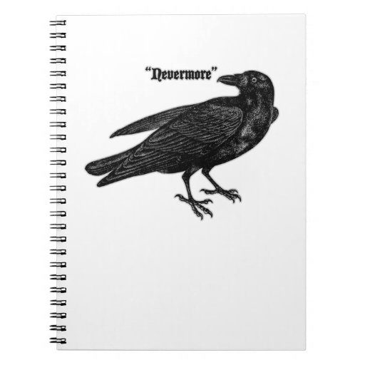 Nevermore Raven Spiral Note Book