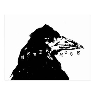 Nevermore Raven of Edgar Allan Poe Postcard