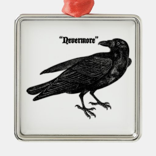 Nevermore Raven Christmas Ornaments