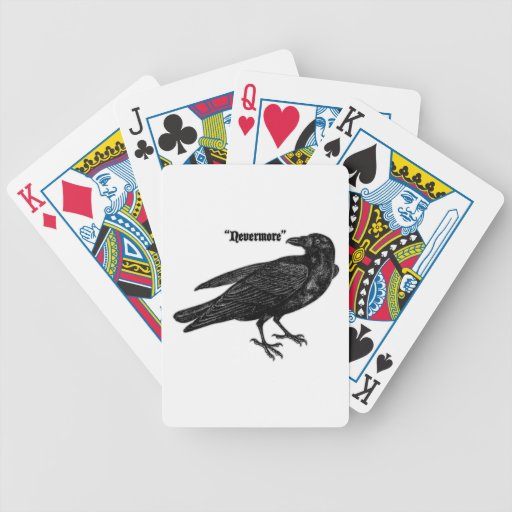 Nevermore Raven Poker Cards