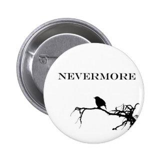 Nevermore Raven Poem Edgar Allan Poe Design 2 Inch Round Button