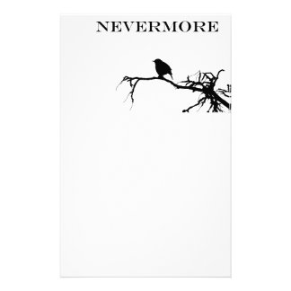 Nevermore Raven Poem Edgar Allan Poe Design Stationery