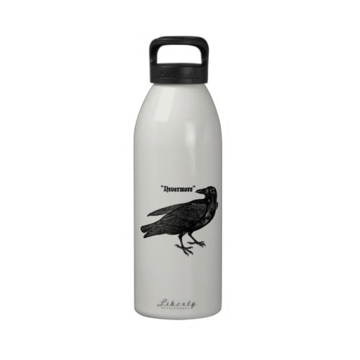 Nevermore Raven Reusable Water Bottle