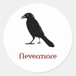 Nevermore Round Sticker