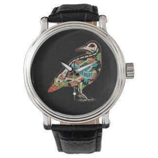 Nevermore Sugar Skull Raven Wrist Watches
