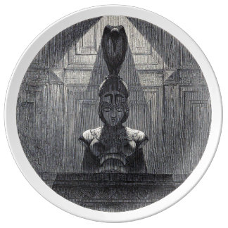 Nevermore White Plate