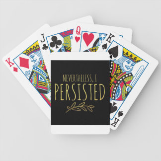 Nevertheless, I Persisted BLACK and GOLD Bicycle Playing Cards