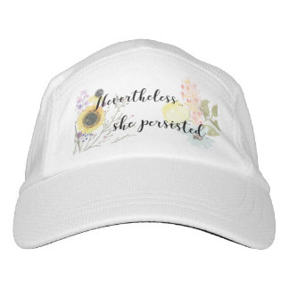 Nevertheless She Persisted Calligraphy Quote Headsweats Hat