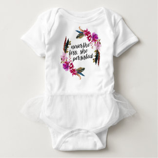NevertheLess, She Persisted | Double Sided Pillo Baby Bodysuit