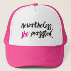 Nevertheless, She Persisted // Elizabeth Warren Trucker Hat