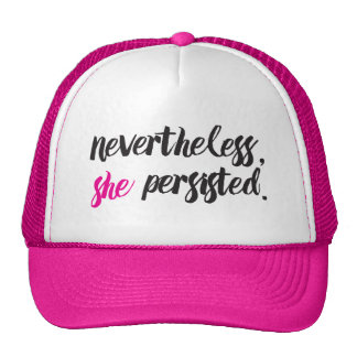 Nevertheless, She Persisted // Elizabeth Warren Trucker Hat