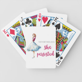Nevertheless She Persisted Fabulous Gal Bicycle Playing Cards