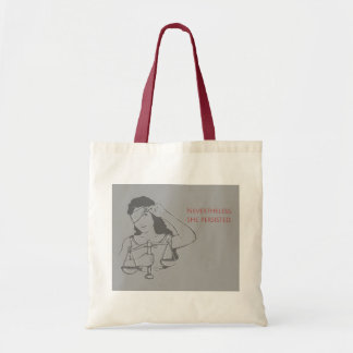 Nevertheless, she persisted (gray) tote