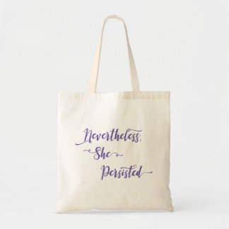 Nevertheless, She Persisted in Ultra Violet Purple Tote Bag
