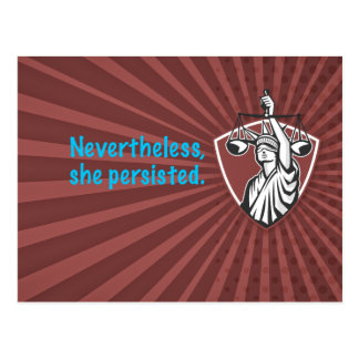 Nevertheless, She Persisted Postcard