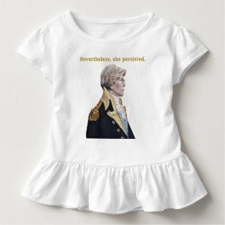 Nevertheless she persisted ruffled girl's t-shirt