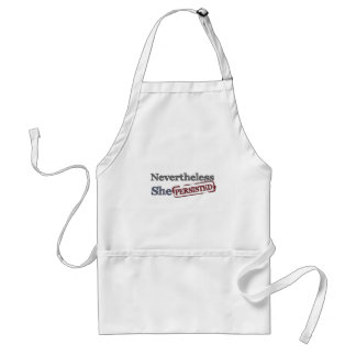 Nevertheless she persisted standard apron