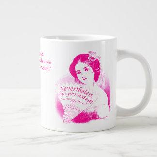 Nevertheless, She Persisted Victorian Lady & Fan 9 Large Coffee Mug