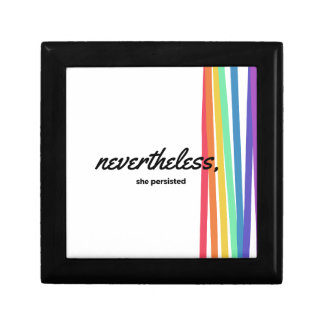 Nevertheless, She PERSISTED with Rainbow Gift Box