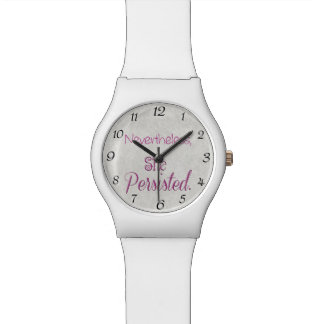 Nevertheless She Persisted Wristwatches