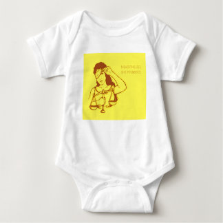 Nevertheless, she persisted (yellow) (baby) baby bodysuit