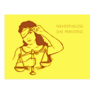 Nevertheless, she persisted (yellow) postcard
