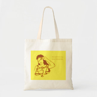 Nevertheless, she persisted (yellow) tote