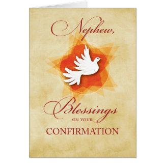 Neveu, bénédictions de félicitations de carte de vœux