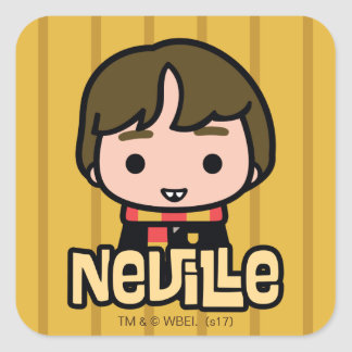 Neville Longbottom Cartoon Character Art Square Sticker