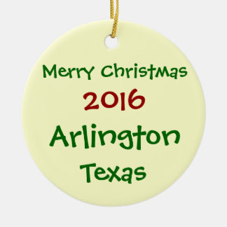 NEW 2016 ARLINGTON TEXAS MERRY CHRISTMAS ORNAMENT