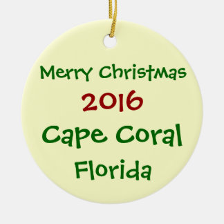 NEW 2016 CAPE CORAL FLORIDA CHRISTMAS ORNAMENT