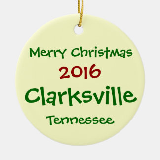 NEW 2016 Clarksville Tennessee CHRISTMAS ORNAMENT