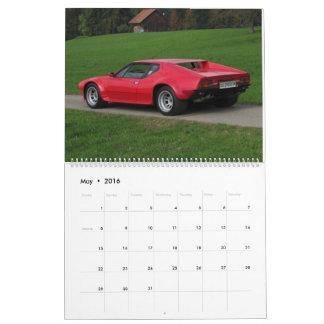 New 2016 De Tomaso Calendar