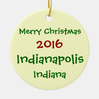 NEW 2016 INDIANAPOLIS INDIANA CHRISTMAS ORNAMENT