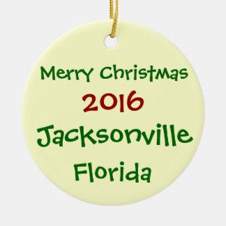 NEW 2016 JACKSONVILLE FLORIDA CHRISTMAS ORNAMENT