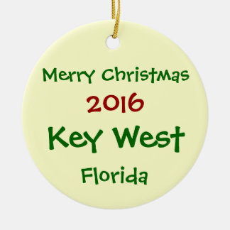 NEW 2016 KEY WEST FLORIDA MERRY CHRISTMAS ORNAMENT
