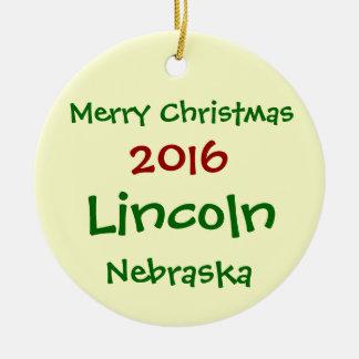 NEW 2016 LINCOLN NEBRASKA CHRISTMAS ORNAMENT