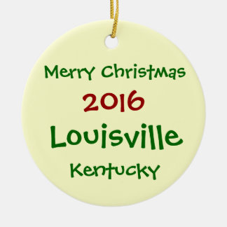 NEW 2016 LOUISVILLE KENTUCKY CHRISTMAS ORNAMENT